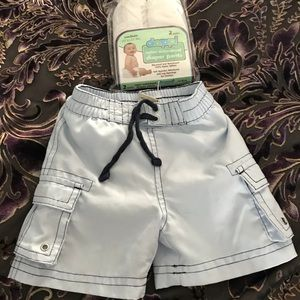 Old Navy 0-3 mo swim trunks and waterproof pants